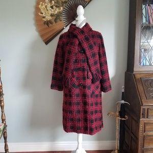 Vintage 60's Tweed Coat with Scarf!